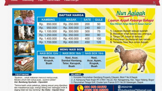 Paket kambing aqiqah depok 2015