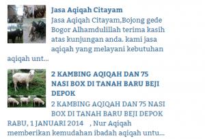 paket kambing aqiqah depok 2016