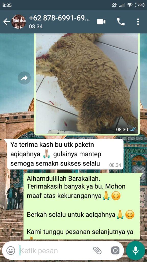 Jasa aqiqah di Depok Siap diantar Gratis Ongkir